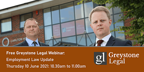 Free Greystone Legal Webinar: Employment Law Update tickets