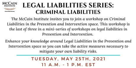 Prevention Practitioners Network - Criminal Liabilities Workshop tickets