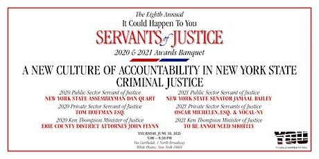 ICHY Servants of Justice 2020 & 2021 Awards  Banquet tickets