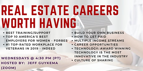 Real Estate Careers Worth Having tickets