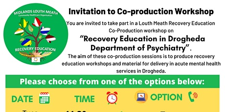 Co-production for Recovery Education in Drogheda Department of Psychiatry tickets