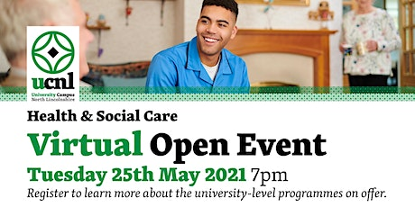 Health and Social Care Virtual Open Event - May tickets