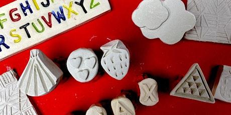 Keramikdesign für Kinder: Tolle Ideen mit Tonstempel tickets