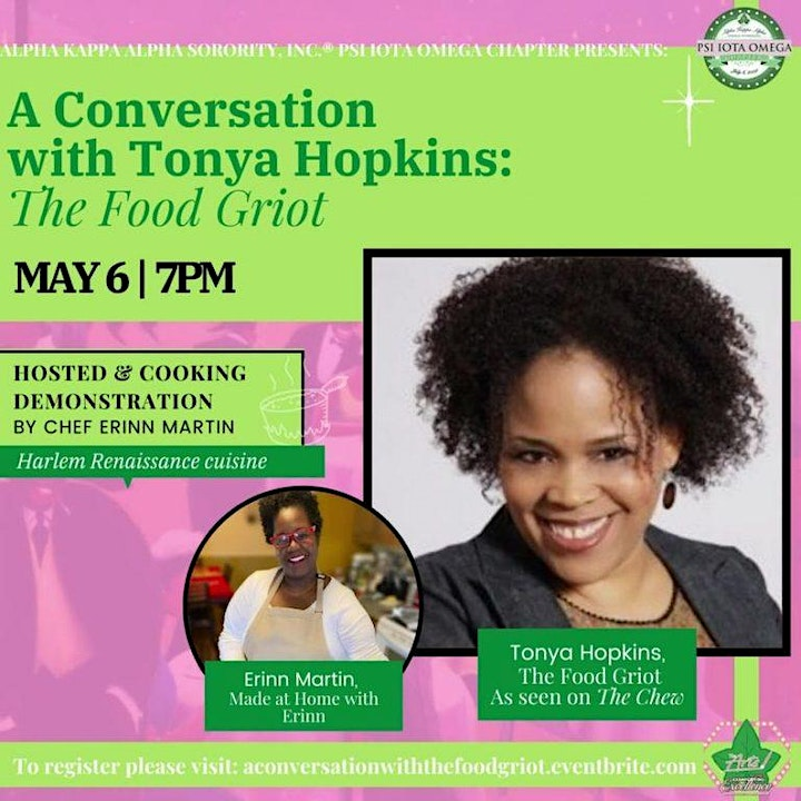 A Conversation  with Tonya Hopkins:  The Food Griot image