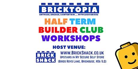 Bricktopia IN-PERSON Builder Club sessions - Spring Bank Half Term tickets