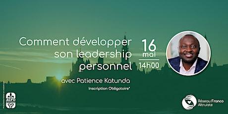 Comment développer son leadership personnel avec Patience Katunda billets