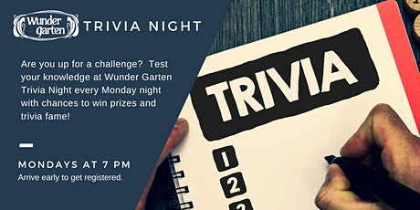 Monday Trivia at Wunder Garten tickets