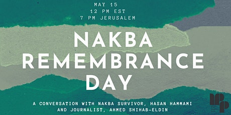 Nakba Remembrance Day with MPP tickets