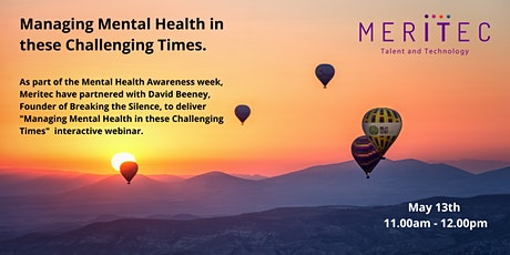 Mental Health in these challenging times webinar with David Beeney tickets