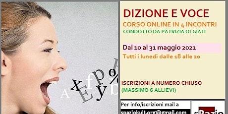 Dizione e voce online - Corso interattivo in 4 incontri biglietti
