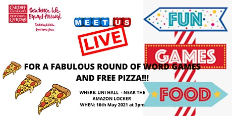 Word Games & Pizza @ Uni Hall tickets