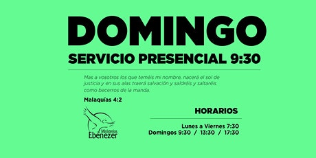 DOMINGO 9 MAYO  / 9:30 boletos