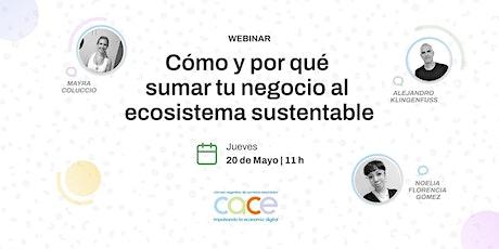 Webinar CACE - Cómo y por qué sumar tu negocio al ecosistema sustentable entradas