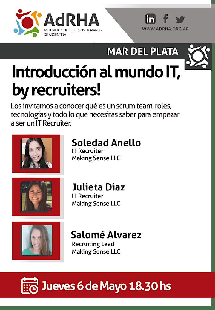 Imagen de Introducción al mundo IT, by recruiters!