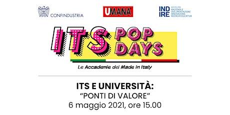 """ITS E UNIVERSITÀ: """"PONTI DI VALORE"""" biglietti"""