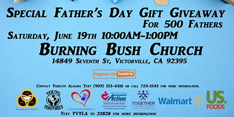 Special Father's Day Gift Giveaway for 500 Fathers tickets