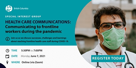 Health SIG: Communicating to frontline workers during the pandemic tickets