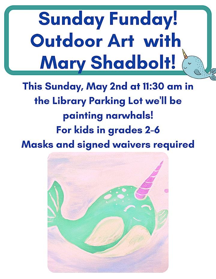 Sunday Funday - Outdoor Art with Mary Shadbolt (GRADES 2-6) image