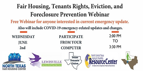 Fair Housing, Tenants Rights, Eviction, and Foreclosure Prevention Webinar tickets