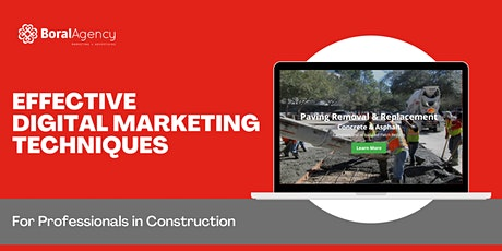 Effective Digital Marketing Techniques for Professionals in Construction tickets
