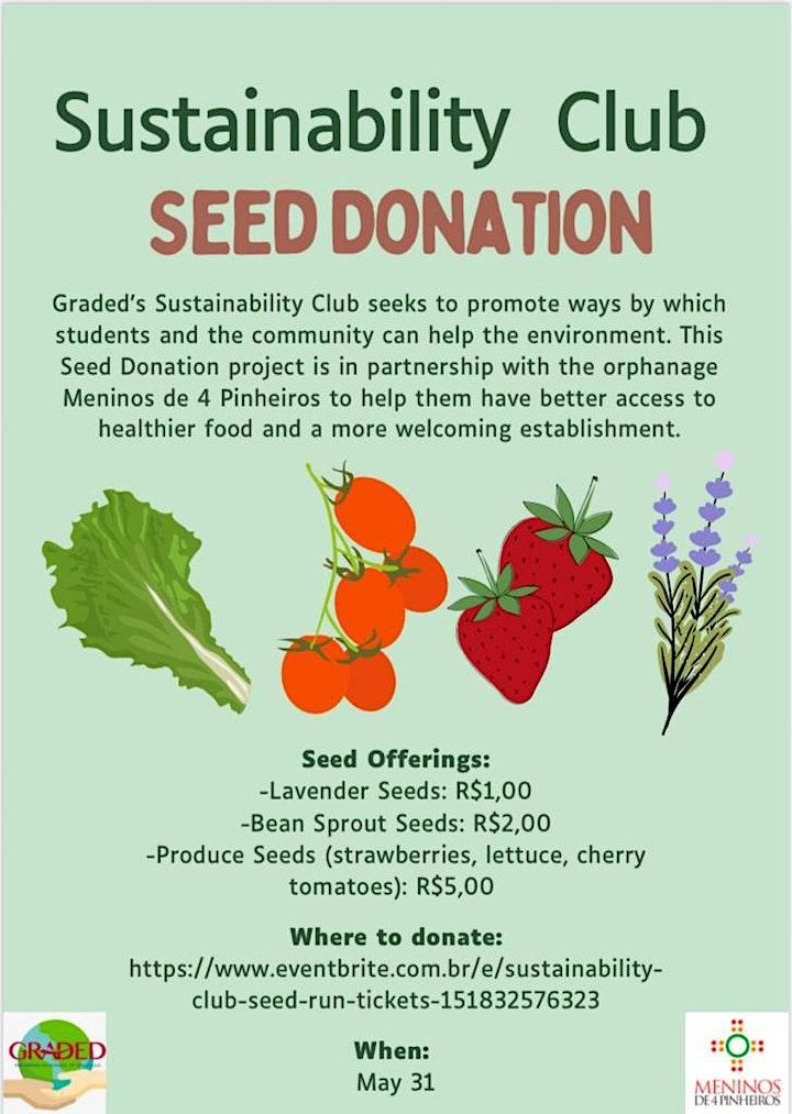 Sustainability Club - Seed Run image