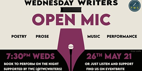 "Wednesday Writers' ""The April/May Triple"" Open Mic tickets"