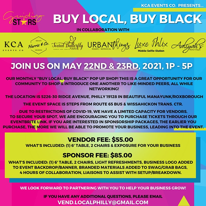 May - Buy Local, Buy Black! Pop Up Shop! image