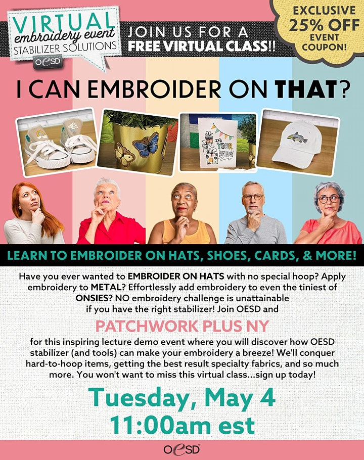 Patchwork Plus NY Virtual Embroidery Event image