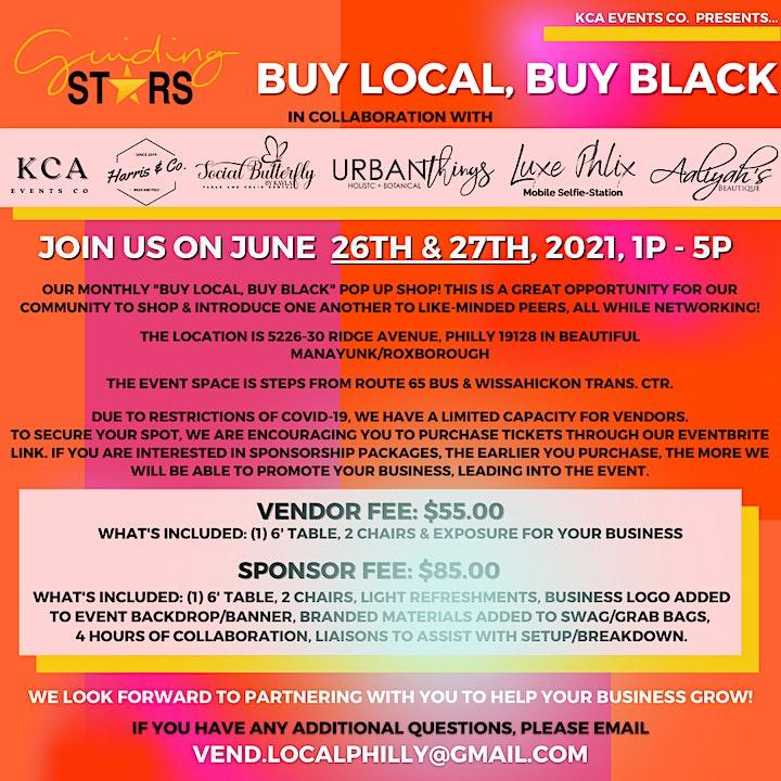 June - Buy Local, Buy Black! Pop Up Shop! image