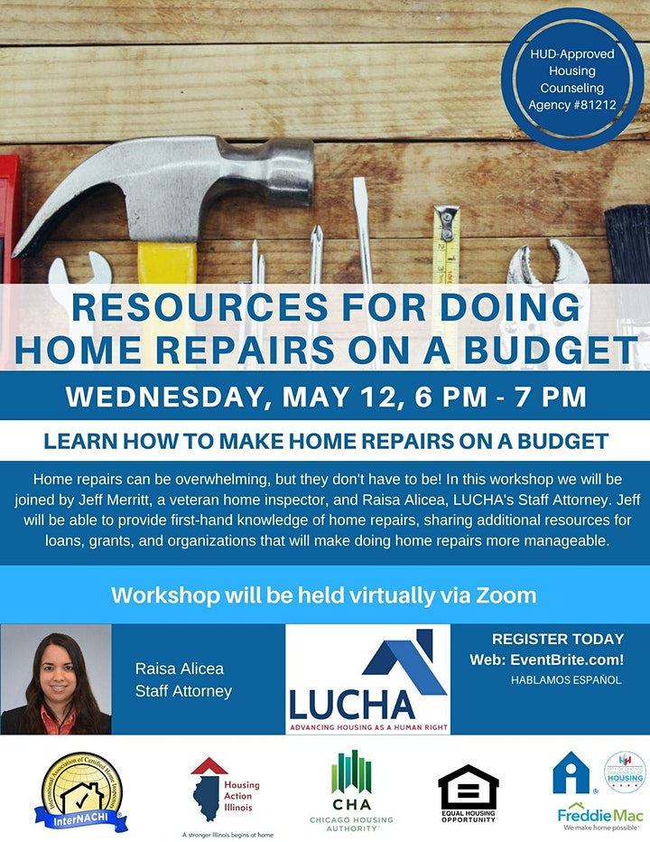 Post Purchase Workshop: Home Repairs image