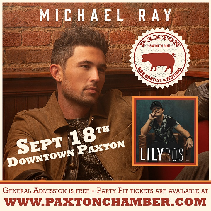 Michael Ray with Lily Rose | Paxton Swine 'N Dine image