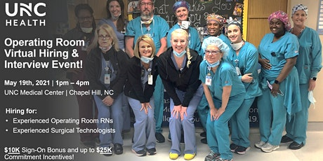 Operating Room Virtual Hiring Event - Experienced RNs tickets