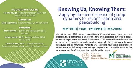 Applying Neuroscience of Group Dynamics to Reconciliation and Peacebuilding tickets