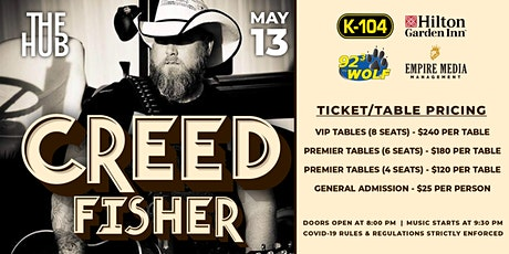 Creed Fisher at The Hub tickets