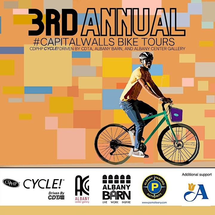 3rd Annual Capital Walls Mural Bike Tour  6/26/21 image