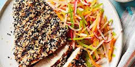 Sesame-Crusted Chicken with Five-Spice Slaw tickets