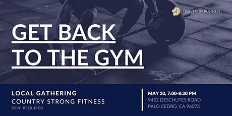 Heaven in Business Redding - Back to the Gym Tickets