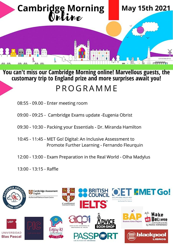Imagen de Cambridge Morning Online 2021