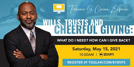 Wills, Trusts and Cheerful Giving: What do I need? How can I give back? tickets
