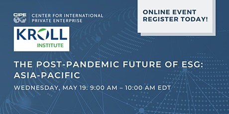 The Post-Pandemic Future of ESG: Asia-Pacific tickets