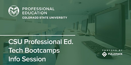 Online Info Session | Colorado State Univ Professional Ed Tech Bootcamps tickets