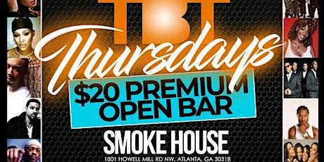 Atlanta's #1 Thursday Party TBT at Memphis Smokehouse tickets