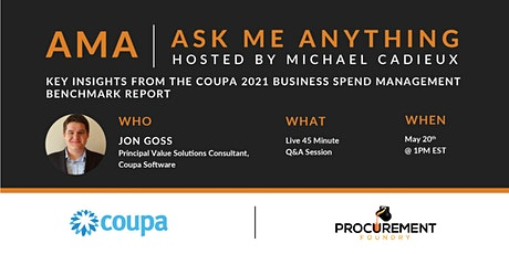 Key Insights from The Coupa 2021 Business Spend Management Benchmark Report tickets