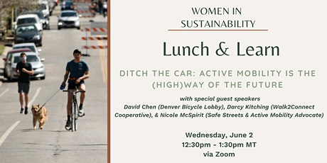 Women in Sustainability - Ditch the Car: Active Mobility is the future tickets