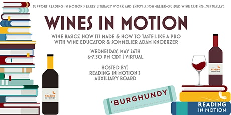 Wines In Motion: A virtual, sommelier-guided wine tasting benefitting RIM! tickets