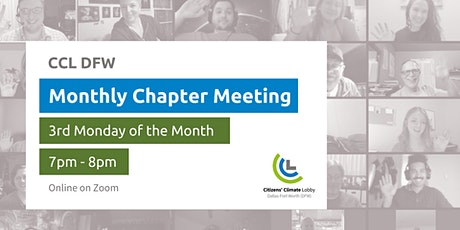 Citizens' Climate Lobby DFW Chapter Meeting: Climate Advocacy Opportunities tickets