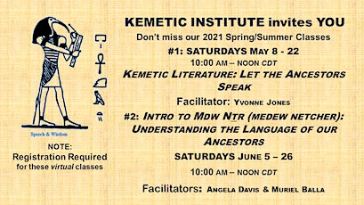 Kemetic Literature: Let the Ancestors Speak tickets
