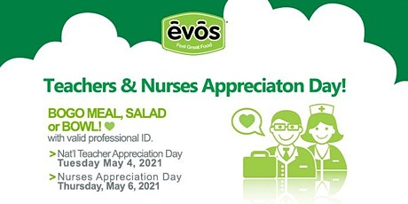 Teachers & Nurses Appreciation Day at EVOS Pinecrest! tickets