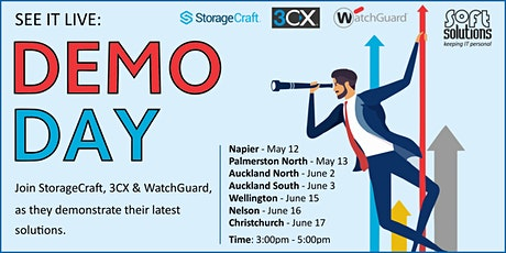 Demo Day - StorageCraft, 3CX & WatchGuard - Auckland South tickets