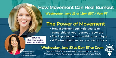 How Movement Can Heal Burnout tickets